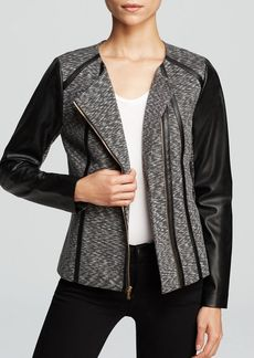 Calvin Klein Faux Leather Print Jacket