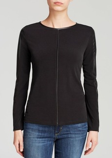 Calvin Klein Faux Leather Trim Tee