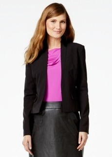 Calvin Klein Faux-Leather-Trim Tuxedo Blazer