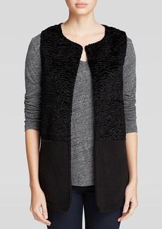 Calvin Klein Faux Persian Lamb Fur Vest
