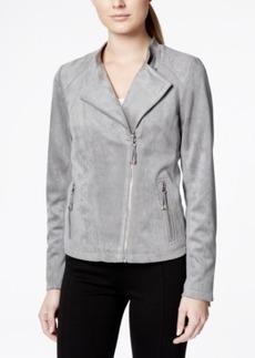 Calvin Klein Soft Faux-Suede Asymmetrical Moto Jacket