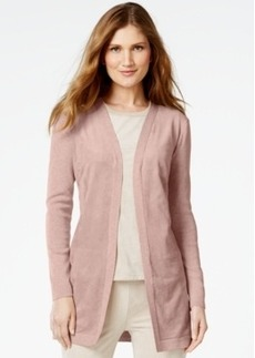 Calvin Klein Faux-Suede-Front Cardigan
