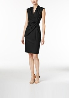 Calvin Klein Faux-Wrap Sheath Dress