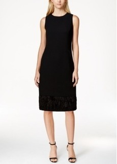Calvin Klein Feather Hem Sheath Dress