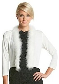 Calvin Klein Feather Trim Shrug