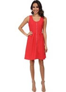 Calvin Klein Fit & Flare Textured Jersey Dress