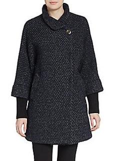 Calvin Klein Flared Boucl? Coat