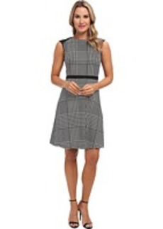 Calvin Klein Flared Dress w/ Mesh