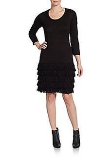 Calvin Klein Fringed Knit Dress