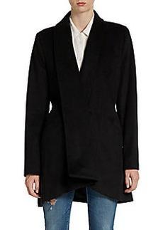 Calvin Klein Front Drape Wool-Blend Coat