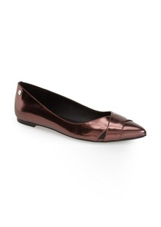 Calvin Klein 'Gailia' Leather Pointy Toe Flat (Women)