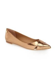 Calvin Klein 'Gailia' Leather Pointy Toe Flat (Women)