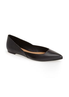 Calvin Klein 'Galice' Pointy Toe Leather Ballet Flat (Women)