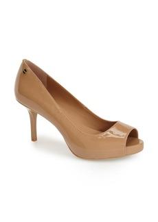 Calvin Klein 'Garda' Peep Toe Platform Pump (Women)
