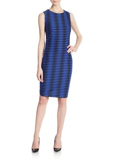 Calvin Klein Geo-Blocked Sheath Dress