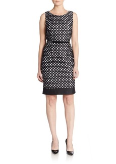 Calvin Klein Geo-Print Belted Dress