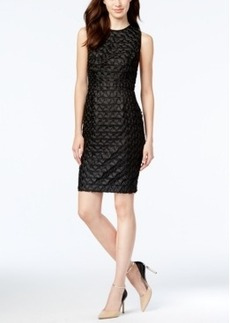Calvin Klein Geo-Textured Sheath Dress