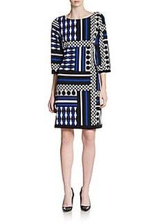 Calvin Klein Geometric-Print Jersey Dress