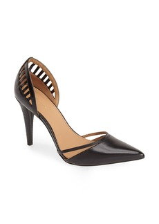 Calvin Klein 'Gilia' Cutout Leather d'Orsay Pump (Women)