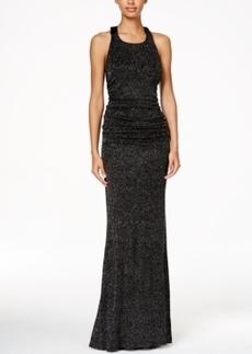 Calvin Klein Glitter Halter Gown