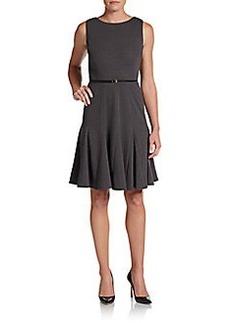 Calvin Klein Godet-Inset Knit Dress