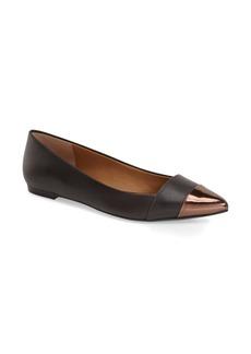 Calvin Klein 'Goldie' Pointy Toe Ballet Flat (Women)