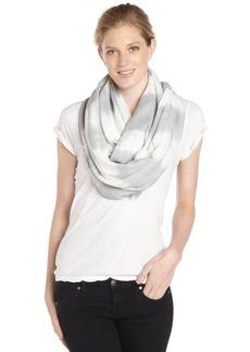 Calvin Klein grey and white dyed stripe infinity scarf