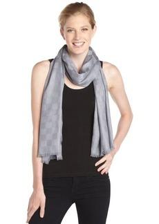 Calvin Klein grey checkered pashmina scarf
