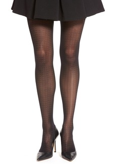 Calvin Klein Grid Mesh Sheer Control Top Pantyhose
