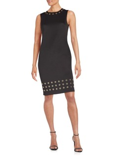 Calvin Klein Grommet-Detail Sheath Dress
