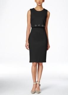 Calvin Klein Grommet Layered Sheath Dress