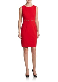 Calvin Klein Grommet-Waist Sheath Dress