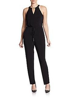 Calvin Klein Halter Jersey Jumpsuit