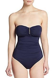 Calvin Klein Halter Maillot Swimsuit