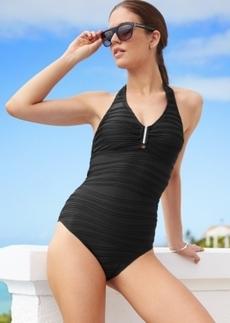 Calvin Klein Halter One-Piece Swimsuit Women's Swimsuit