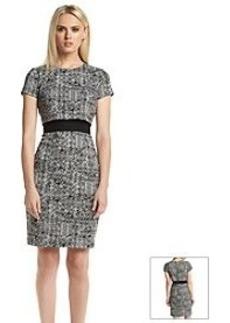 Calvin Klein Hatch Print Popover Dress