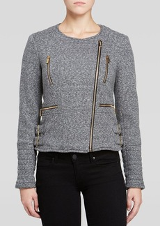 Calvin Klein Heather Terry Moto Jacket
