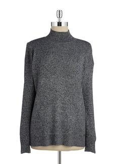 CALVIN KLEIN Heathered Mockneck Sweater