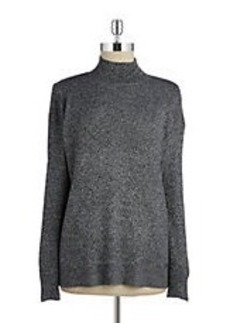 CALVIN KLEIN Heathered Mockneck Sweater