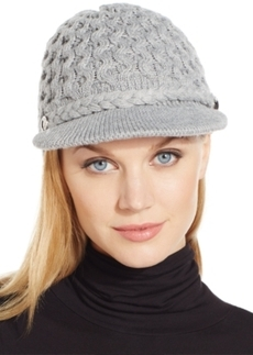 Calvin Klein Honeycomb Cable Newsboy Hat