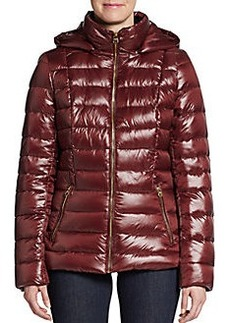 Calvin Klein Hooded Down Nylon Puffer Jacket