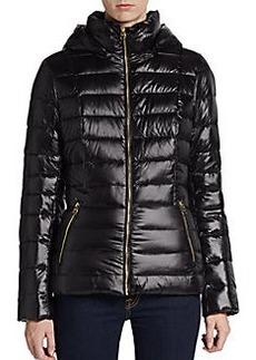 Calvin Klein Hooded Down Nylon Puffer Jacket