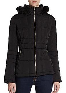 Calvin Klein Hooded Faux Fur-Trimmed Puffer Jacket