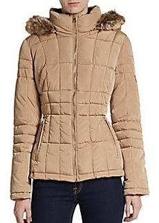 Calvin Klein Hooded Faux-Fur Trimmed Puffer Jacket