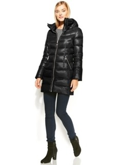 Calvin Klein Hooded Quilted Packable Down Puffer Coat