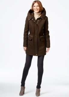 Calvin Klein Hooded Wool-blend Anorak Coat