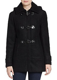 Calvin Klein Hooded Wool Toggle Coat