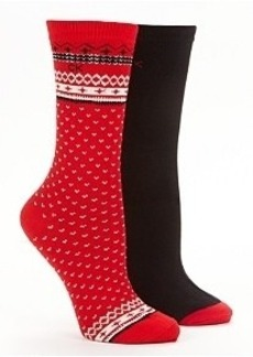 Calvin Klein Hosiery Holiday Fairaisle Crew Socks 2-Pack