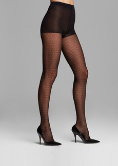 Calvin Klein Hosiery Tights - Lacy Geo Sheer Control Top #A48