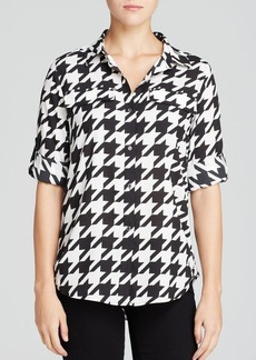 Calvin Klein Houndstooth Print Shirt